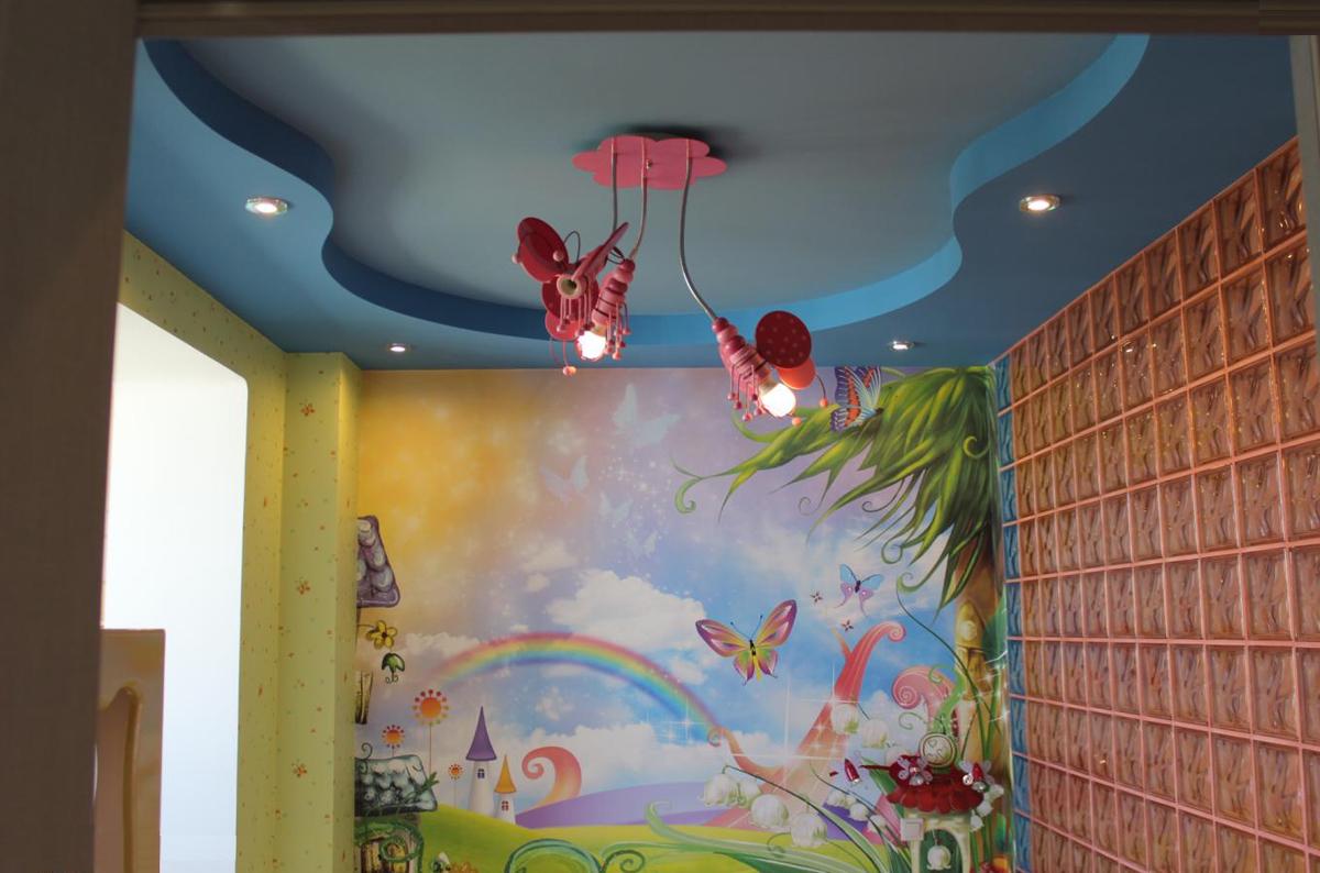 Как сделать потолок в детской комнате своими руками 51